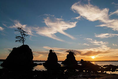 Photograph - Three Graces At Sunset by Robert Potts