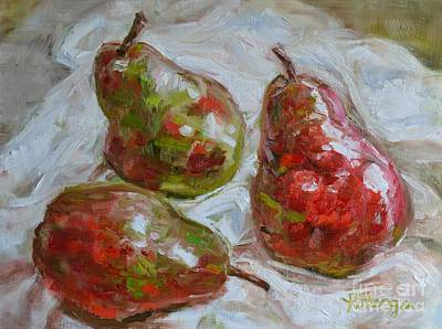 Pear Tree Painting - Three Graces by Lori Pittenger
