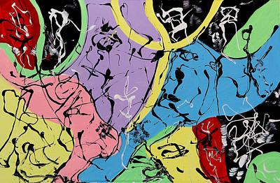 Painting - Three Graces by Wayne Salvatore
