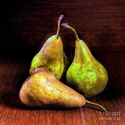 Three Green Pears Original