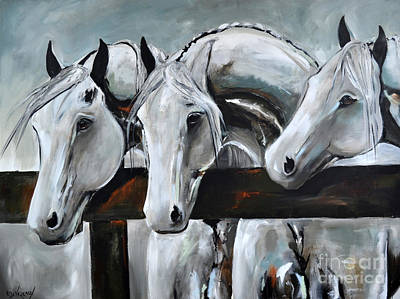 Painting - Three Greys by Cher Devereaux