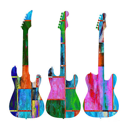 Painting - Three Guitars 4 by Edward Fielding