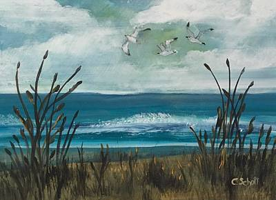 Painting - Three Gulls by Christina Schott