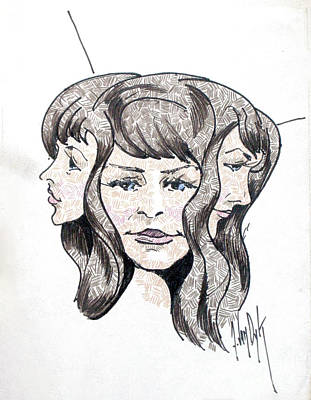 Monochrome Landscapes - Three heads are better than one by Dorothy Hilde