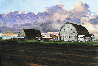 Skagit Painting - Three Historic Structures by Perry Woodfin