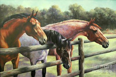 Painting - Three Horses by Meridith Martens