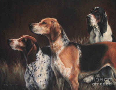 Painting - Three Hounds by Meridith Martens