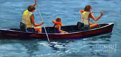 Painting - Three In A Canoe by Shelley Koopmann