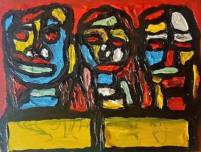 Painting - Three In Focus by Darrell Black