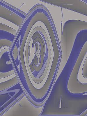 Digital Art - Three In Gray by Cathy Harper