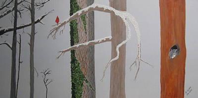 Three In The Trees Art Print