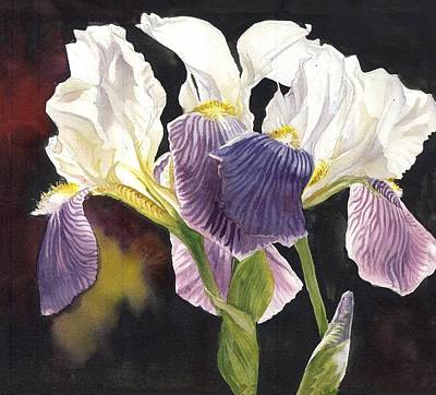 Painting - Three Irises by Alfred Ng