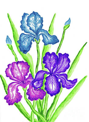 Painting - Three Irises by Irina Afonskaya