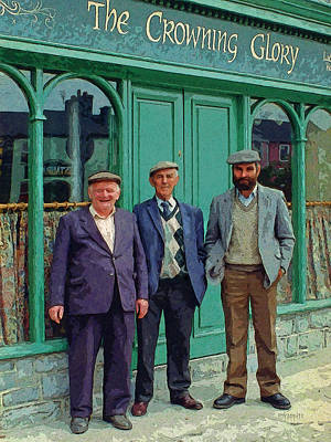 Photograph - Three Irish Blokes The Crowning Glory Pub by Rebecca Korpita