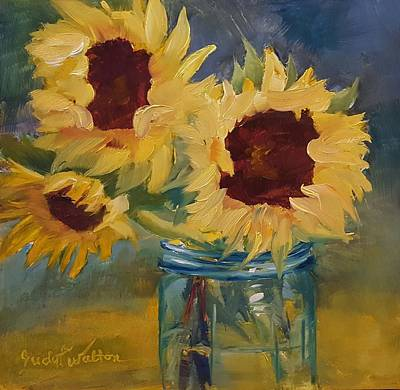 Painting - Three Is A Charm by Judy Fischer Walton