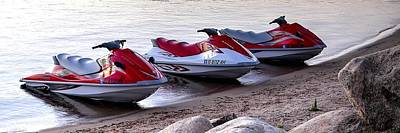 Photograph - Three Jet Skis 23 by Jerry Sodorff