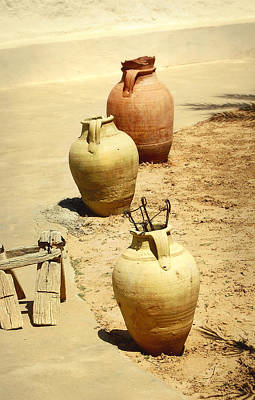 Water Jug Digital Art - Three Jugs by Natalia Shcherbakova