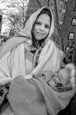Ethnic Dolls Photograph - Three King Day Parade El Museo Del Barrio 1_6_17 Woman With Doll by Robert Ullmann