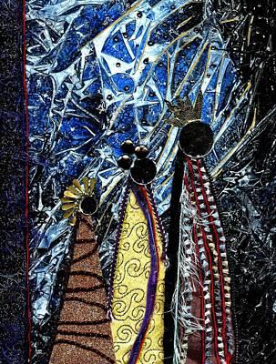 Religious Art Mixed Media - Three Kings by Melanie Hudson