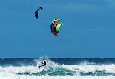 Kites Photograph - Three Kites by Mike Dawson