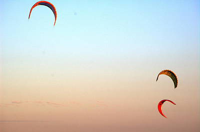 Photograph - Three Kites  by Richard Omura