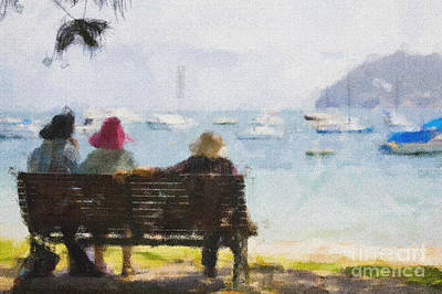 Impressionism Mixed Media - Three Ladies by Avalon Fine Art Photography