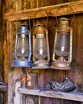 Photograph - Three Lanterns And A Shoe by Joe  Palermo