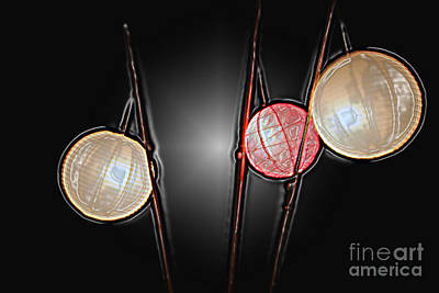 Photograph - Three Lanterns by PJ Boylan
