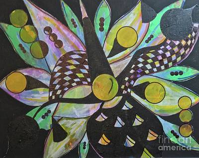 Three Art Print by Laurie Cairone