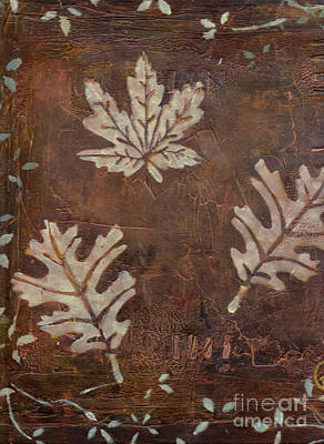 Painting - Three Leaves by Patricia Cleasby