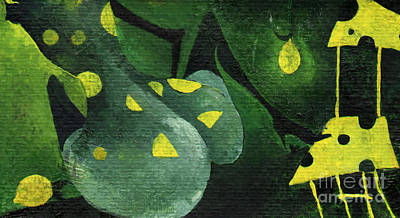 Painting - Three Lemons by Maya Manolova