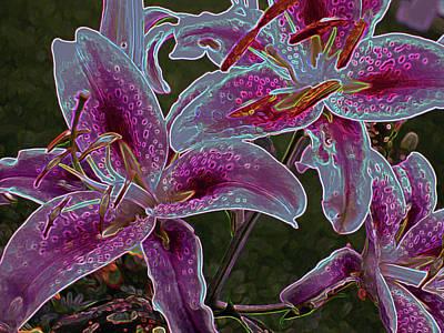 Photograph - Three Lilies 5 by Lynda Lehmann