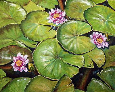Painting - Three Lilies by Lynne Haines
