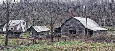 Photograph - Three Little Barns by Joe Duket