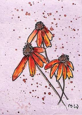 Three Little Flowers Art Print