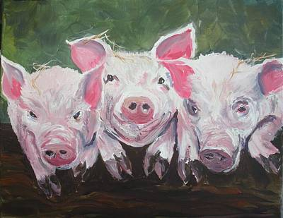 Painting - Three Little Pigs by Lee Stockwell