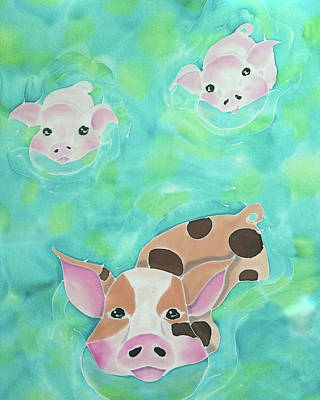 Painting - Three Little Pigs  by Tiff