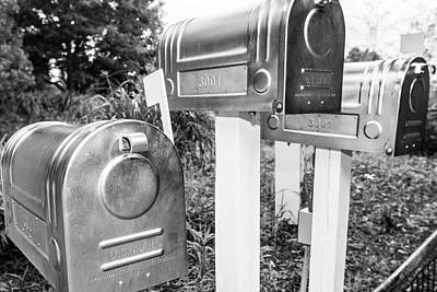 Photograph - Three Mailboxes by Steven Green