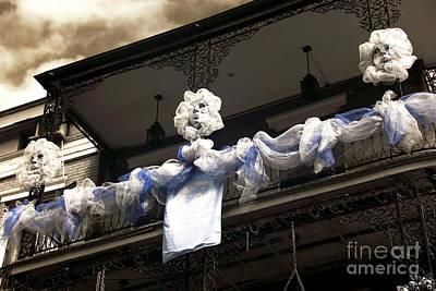 Photograph - Three Mardi Gras Ladies Infrared by John Rizzuto