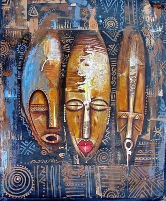 Three Masks Art Print