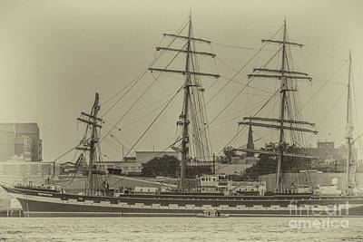 Photograph - Four Masted Tall Ship Docked In Charleston by Dale Powell