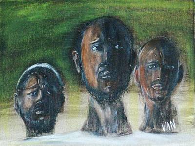 Painting - Three Men by Van Winslow
