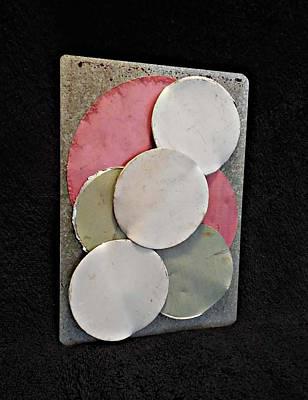 Disc Mixed Media - Three Moons by Jim Ramirez