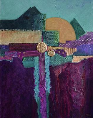 Painting - Three Moons by Nancy Jolley