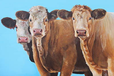 Painting - Three Moosketeers by Laura Carey