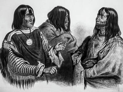 1833 Photograph - Three Native American Chiefs by Douglas Barnett