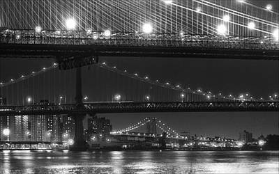 Three New York Bridges 2 Art Print