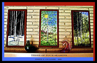 Painting - Three Of Four Seasons by Joseph Coulombe