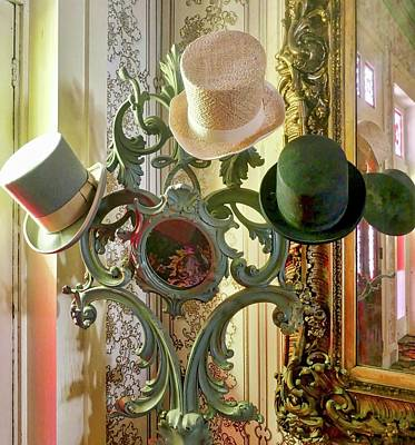 Painting - Three Old Top Hats by Joan Reese