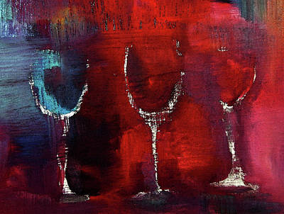 Glass Painting - Three Ole Gals.  by Lisa Kaiser